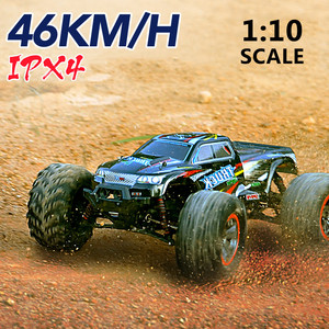 JTY Toys 1:10 RC Trucks 46km/h Dual Motor High Speed Remote Control Buggy Truck 4WD Bigfoot Climbing Off-Road Car Waterproof