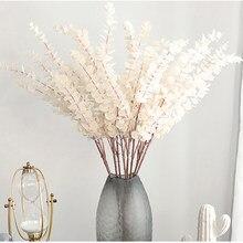 76cm Künstliche Pflanzen Eukalyptus Blätter Zweig Kunststoff Laub Blume Anordnung Gefälschte Hochzeit Blume für Home Bonsai Decor