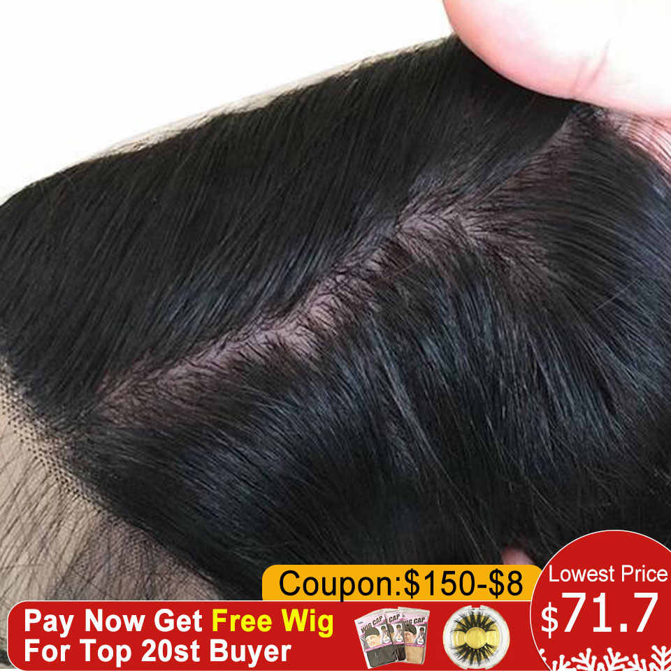 Silk Base Lace Front Human Hair Wigs Straight Brazilian Remy Hair Silk Top 13X4 Lace Hair Wigs With Baby Hair Pre Plucked 130%