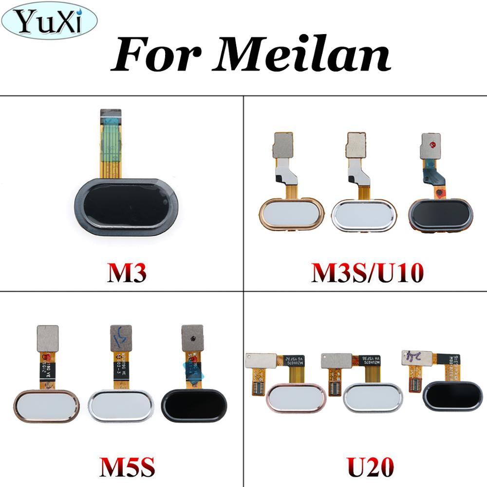 YuXi For Meizu M3 M3S M5S U20 Home Button Fingerprint Touch ID Sensor Flex Cable Band Replacement For Meilan 3S Home Button Key