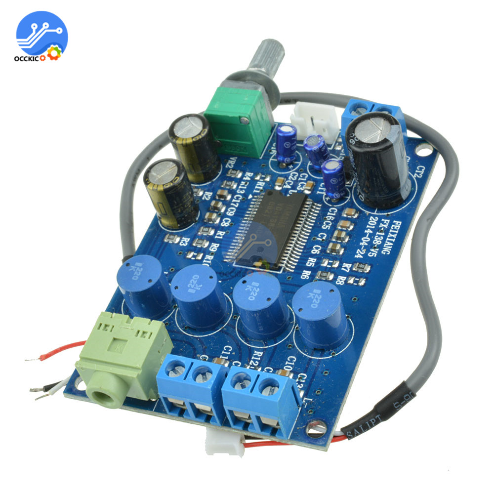 YDA138 Amplifier Board DC12V 2X10W Modulo Amplificador Dual Channel Audio Speaker Sound Placa Amplifier Board Sonorisation