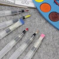 3 morceaux Marqueurs de pinceau portables peinture pinceau aquarelle pinceau aquarelle doux stylo police artistique étudiants papeterie 10