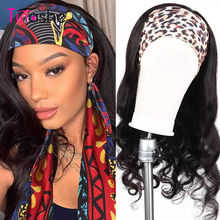 Tinashe 머리띠 가발 바디 웨이브 인간의 머리 가발 150 밀도 브라질 레미 세련된 스카프 머리띠 가발 흑인 여성을위한 바디 웨이브 가발