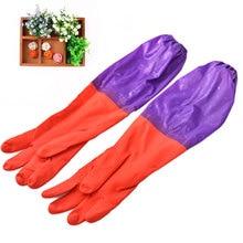 Для мытья посуды моющиеся перчатки утолщенные втулки теплое очищение для белья