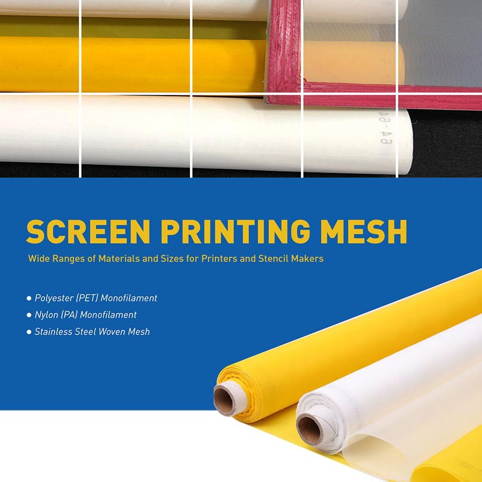 127CM Width 24T-80T Polyester Filter Mesh Silkscreen White Silk Screen Printing Mesh Fabric Handwork DIY Filter Net  Textiles