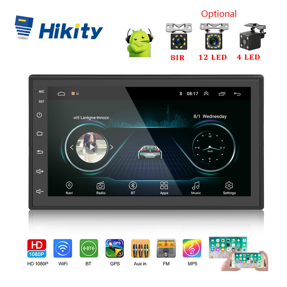 Hikity Android 8.1 Auto Radio Stereo GPS Navigation Bluetooth wifi Universal 7 2din Auto Radio Stereo Auto Multimedia-Player
