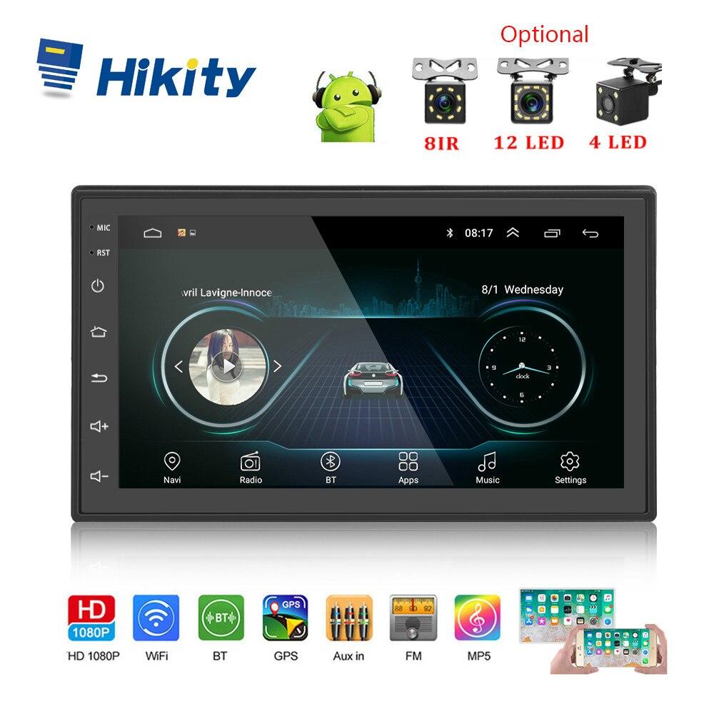 Hikity Android 8.1 Car Radio Stereo GPS Navigation Bluetooth Wifi Universal 7'' 2din Car Radio Stereo Car  Multimedia Player
