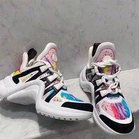 Women Shoes 2019 Chunky Sneakers Women Vulcanize Shoes Women Platform Sneakers Brand Design Casual Shoes Woman