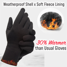 Na każdą pogodę zewnętrzne rękawiczki do obsługiwania ekranów dotykowych podszyty polarem wiatroszczelne antypoślizgowe ciepłe zimowe rękawice sportowe SSA-19ING tanie tanio Swokii Poliester Nylon Dla dorosłych Stałe Elbow Moda Outdoor
