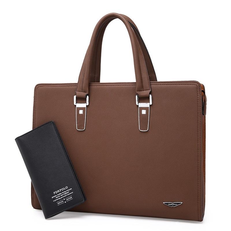 Business Affairs Man Handbag Cross Section Briefcase Men's Singles Shoulder Satchel Leisure Time Computer A Leather Bag HOT Sale