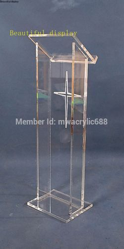Free Shipping Hot Sell Deluxe Cheap Clear Acrylic Lectern Acrylic Podium Plexiglass