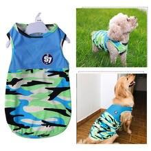 Футболка мягкая одежда для щенков милая Одежда собак камуфляжная