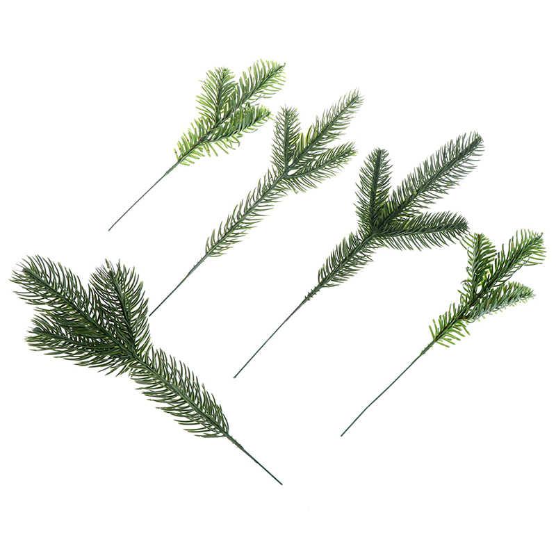Kunstmatige Dennennaalden Tak Simulatie Plant Bloemschikken Accessoires Voor Kerstbomen Decoratieve Bloemen