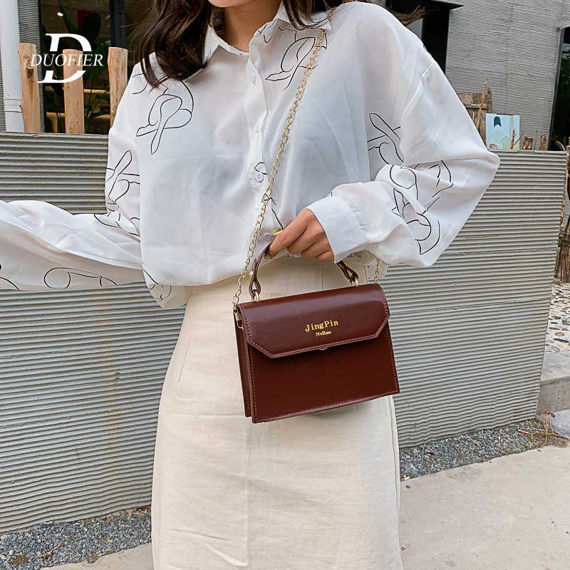 2019 Women Messenger Bag High Quality Leather Ladies Small Incense Wind Chain Shoulder Bag Chain Trendy Solid Mini Flap Handbag