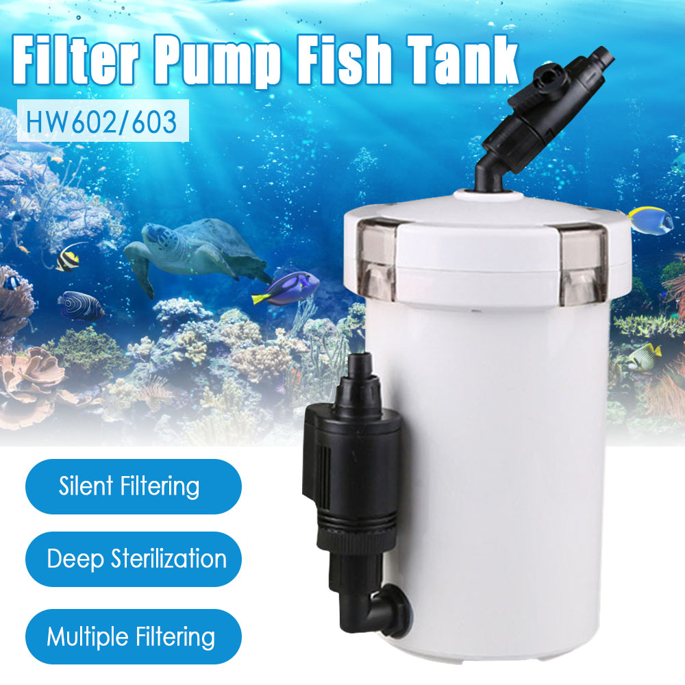 Aquarium Fish Tank External Silent Filter Bucket Canister HW 603B HW 602B HW 602 HW 603 With Accessories Pump|Filters & Accessories| - AliExpress