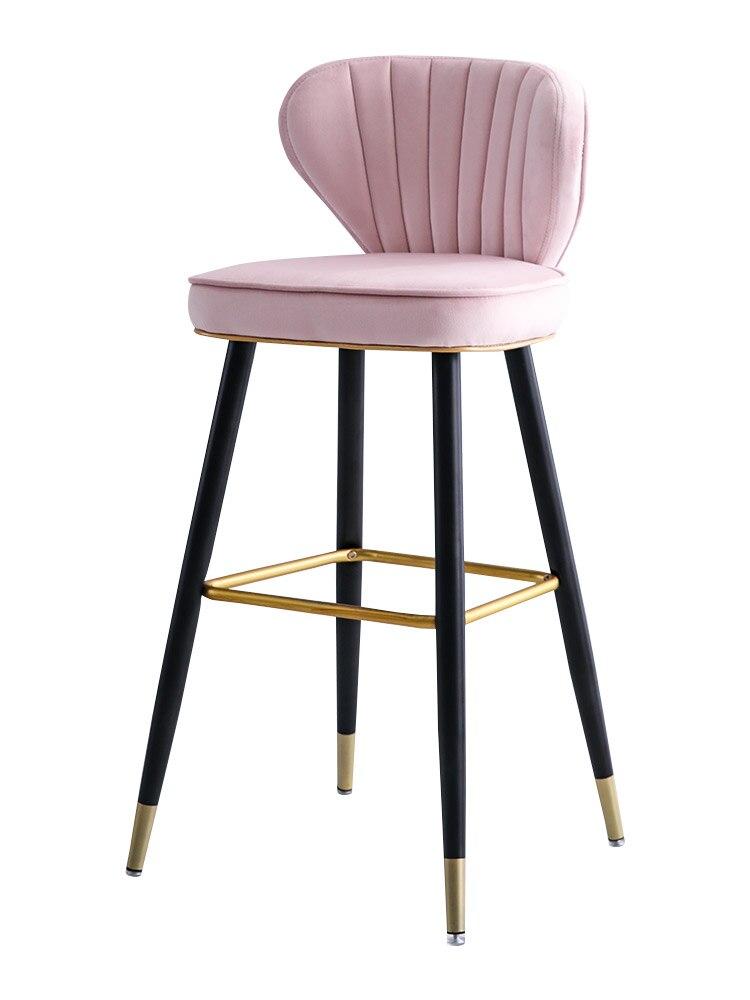 Nordic Light Luxury Solid Wood Bar Chair Swivel American High Chair Stylish Bar Chair Simple Back High Stool