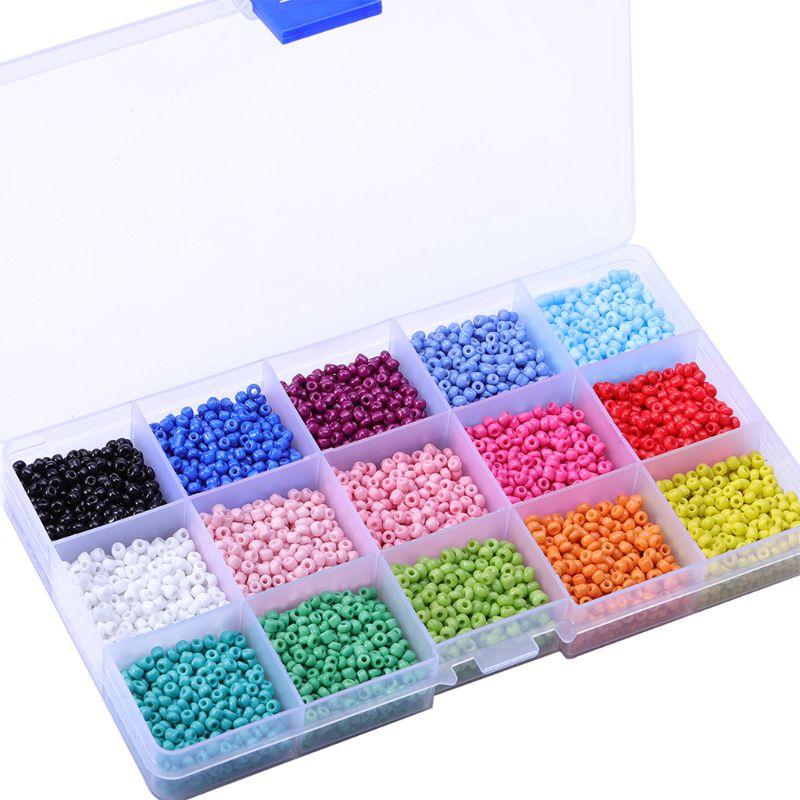 Perles de riz en verre 3mm perles en vrac multicolores adaptées à la mode bricolage 634D