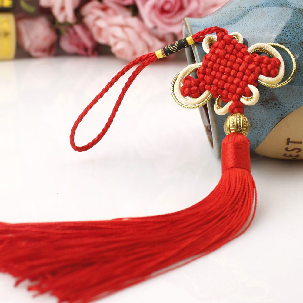 1pc Car Ornaments Chinese Lucky Knot Cross Stitch Tassel Chinese New Year Decorations Chinese Good Luck Knot Gift
