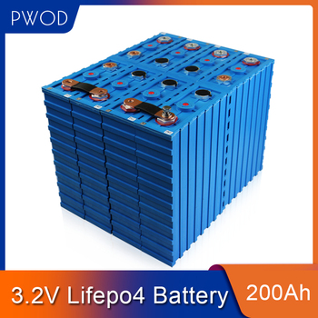 PWOD 16PCS NEW 3.2V 200AH CALB lifepo4 Battery Lithium Iron Phosphate Cell solar12V 24V 48V 200AH cells pack  EU US TAX FREE