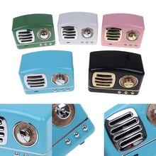 Mini retro bluetooth alto falante sem fio do vintage suporte estéreo rádio fm tf cartão