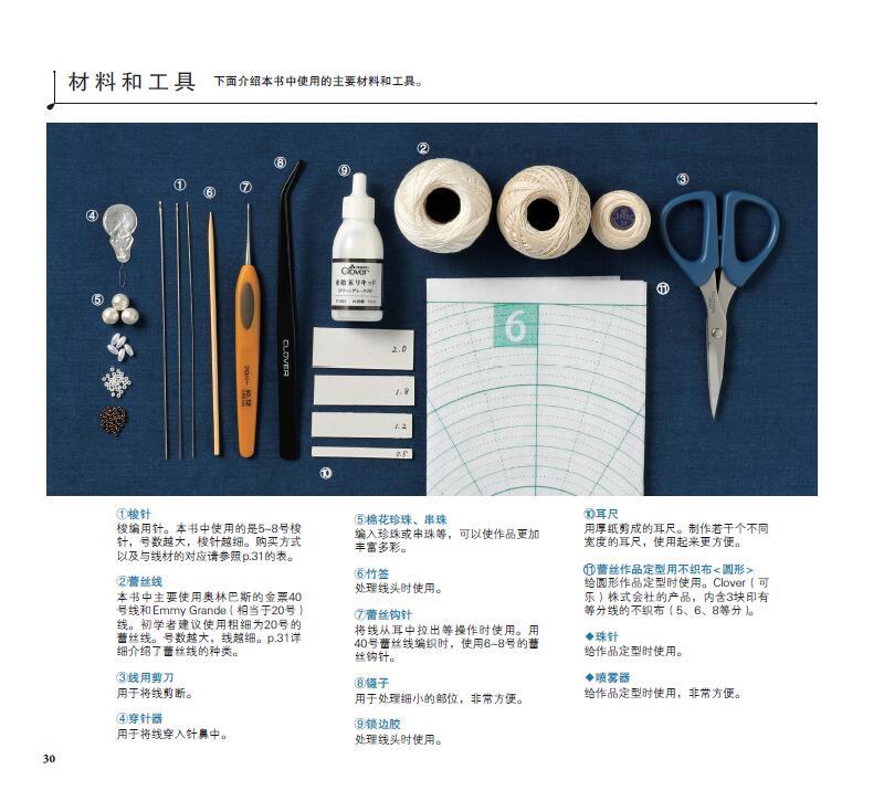 Decorativo Colar, Headband, Pulseira Padrão de Tecelagem Técnica Livro Tutorial