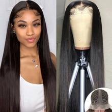 YYong Hair-Peluca de cabello humano transparente de 8-32 pulgadas, postizo de encaje, parte superior profunda, Remy, brasileño
