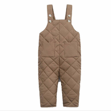 Baby Boys Romper Overalls Solid Color Girls Down-Cotton Jumpsuit for Children Clothes 2019 New Winter Kids Warm Pant with Pocket 3 6t russia winter keeps warm snow kids girls clothes big fur hats down romper girls catsuit outdoor overalls for boy kids