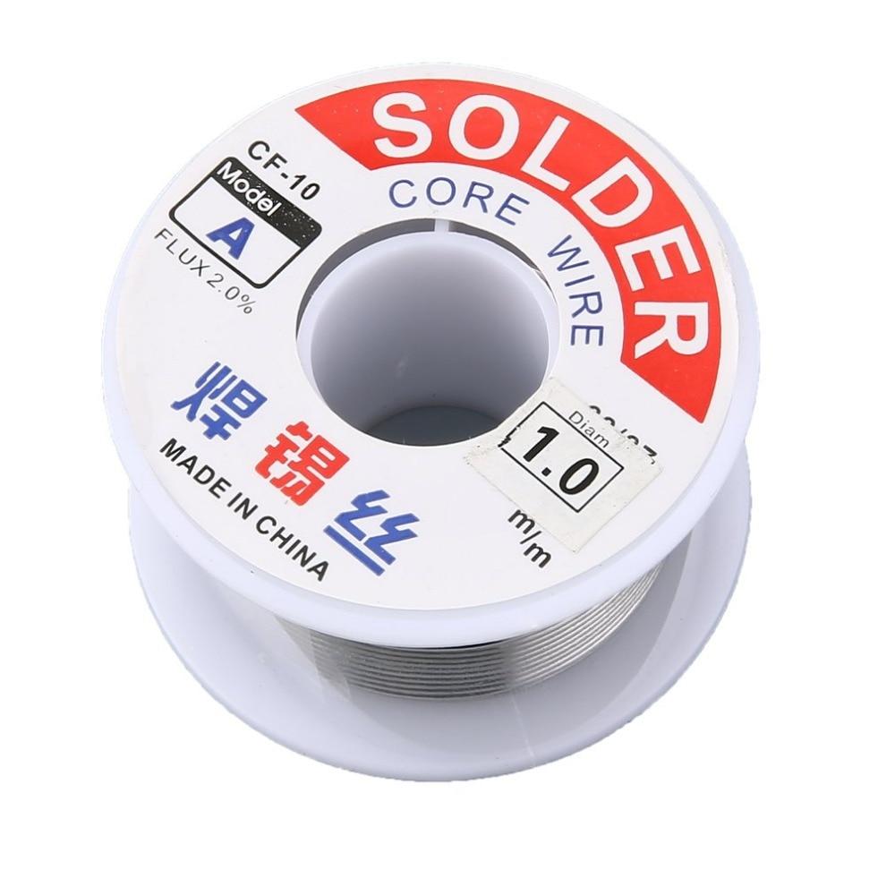 1.0mm 2% Flux Tin Lead Rosin Roll Core Silver Solder Wire Welding Soldering Repairing Tool Reel Melt Kit Electric Melting