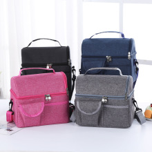 Large Capacity Fresh Cooler Bags Waterproof Oxford Portable Zipper Thermal Lunch Bags For Women Lunch Box Tote Picnic Food Bags