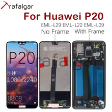 Trafalgar Display For Huawei P20 LCD Display EML L29 L22 L09 Touch Screen For Huawei P20 Display With Frame Replacement Parts