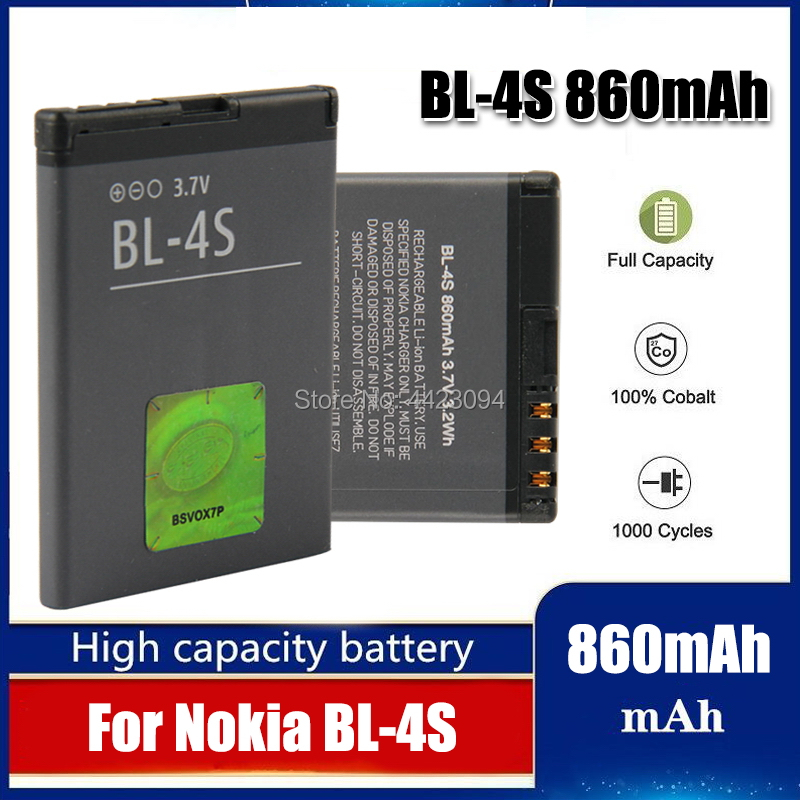 BL4S BL-4S Battery For Nokia 2680s <font><b>3600s</b></font> 3602S 3711 6202c 6208c 7020 7100s X3-02 2680S battery image