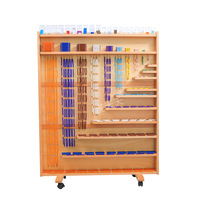 Tiger Every Day Montessori Children Early Learning Kindergarten Teaching Aids Cubic Bead Necklace Rack Square Bead Curtain Beade