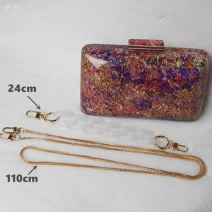 Image 5 - New Trendy Acrylic Bag Brand Fashion Women Handbag Red Geometric Luxury Wedding Party Evening Bag Woman Casual Box Clutch Purse