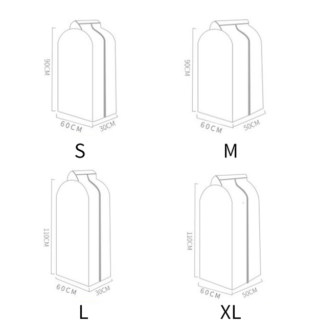 Garment Clothes Cover Protector Dustproof Storage Waterproof Suit Coat Clothes Dust Storage Bag Hanging Organizer Wardrobe 5