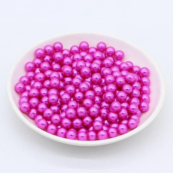 3/4/6/8mm круглый цвет нет отверстия акриловые бусины имитация жемчуга Акриловые бусины украшения, сделай сам, ювелирное изделие ожерелье головной убор, делая для женщин - Цвет: rose