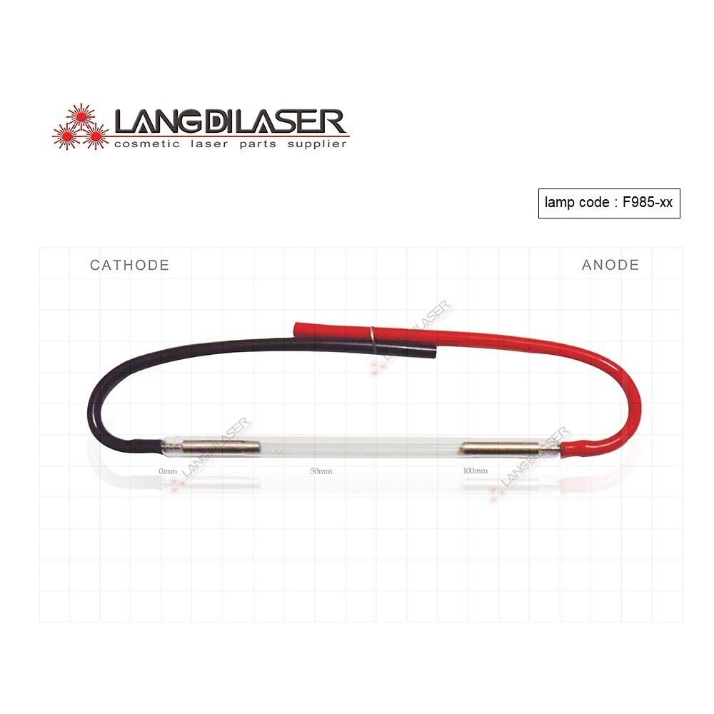 UK IPL&SHR Lamp : 7*65*130F - Wire , Lamp Code : F985  , IPL Flash Lamp , Xenon Arc Lamp