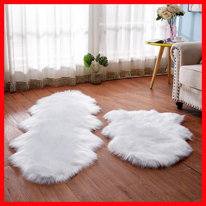 Sholisa Faux Fur Floor Rug Sheepskin Carpert For Bedroom 6cm Pile For Living Room Home Deco