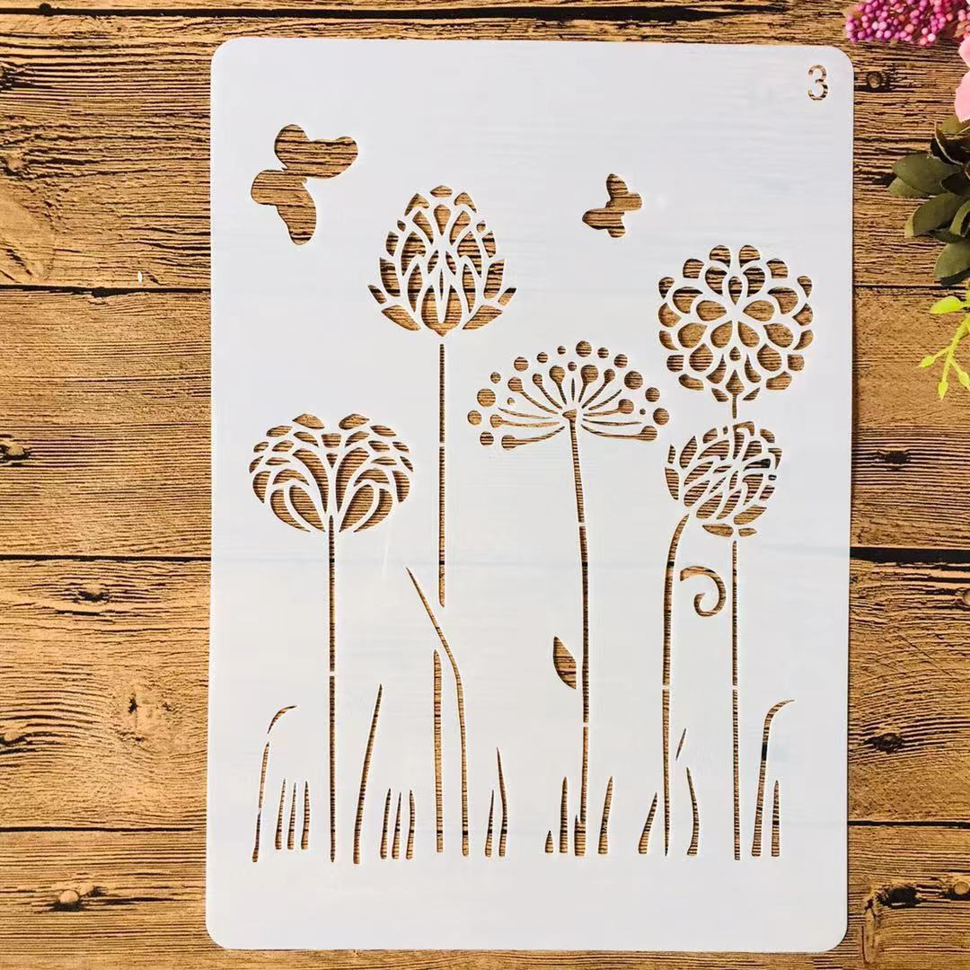 A4 29cm Dandelion Butterfly II DIY Layering Stencils Painting Scrapbook Coloring Embossing Album Decorative Template