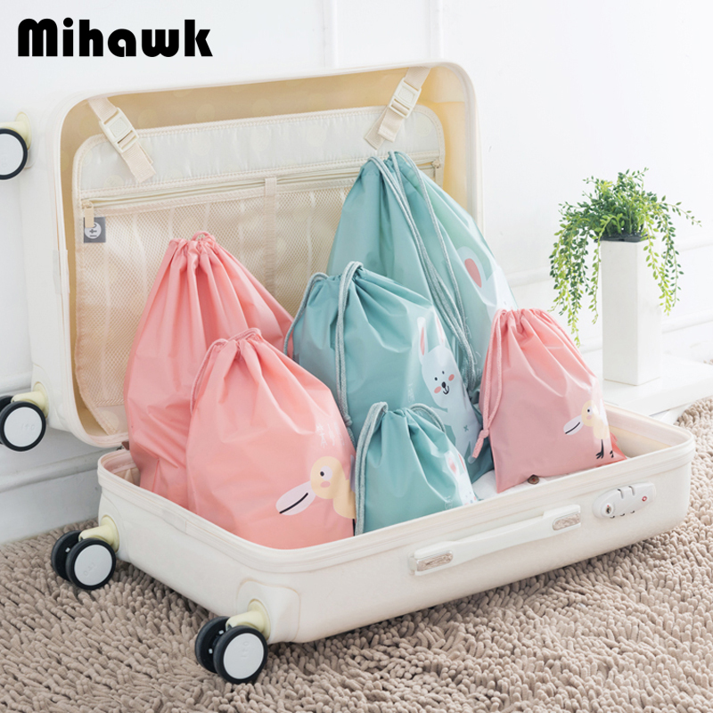 Travel Organizer Socks Shoes Waterproof Accessories-Supply Drawstring Cute Clothing Sorting-Bag