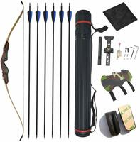 1 Set 62 inch Wooden Takedown Recurve Bow 25/30/35/40/45/50 lbs Bamboo Limbs Laminated Sheet for Outdoor Archery Hunting