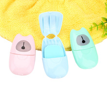 Antibacterial Child Hand Washing Soap Scented Foaming Paper Disposable 50pcs/Box for Travel Camping Outdoor Paper Soap Bath Soap