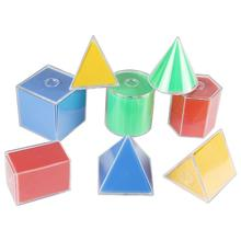 8Pcs/Set Folding Prism Cylinder Geometric Model Math Learning Resources Kids Toy Sensorial Montessori Toys toy math board games for adults russian learning resources homeschool kids tiny toys educational penguin