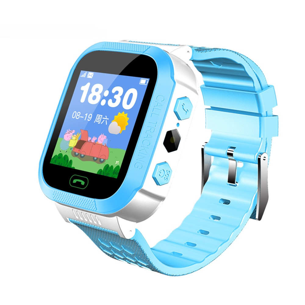Kids Smart Watch Phone With GSM Locator Screen Sleep Tracker SOS Flashlight Fitness Tracker Alarm Smartwatch For Children Gifts