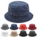 Панама Складная пляжная унисекс, головной убор для улицы, шапка рыбака, уличная шапка из чистого хлопка для мужчин и женщин