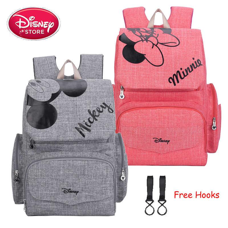 Disney torba na pieluchy dla mamy na pieluchy torba na pieluchy dla opieka nad dzieckiem designerski plecak podróżny Disney Mickey Minnie torby torebka