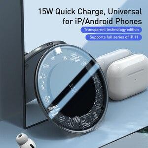 Image 2 - Baseus 15W Qi magnetyczna bezprzewodowa ładowarka do iPhone 12 Mini 11 Pro Max Xs indukcyjna szybka bezprzewodowa ładowarka do Samsung Xiaomi