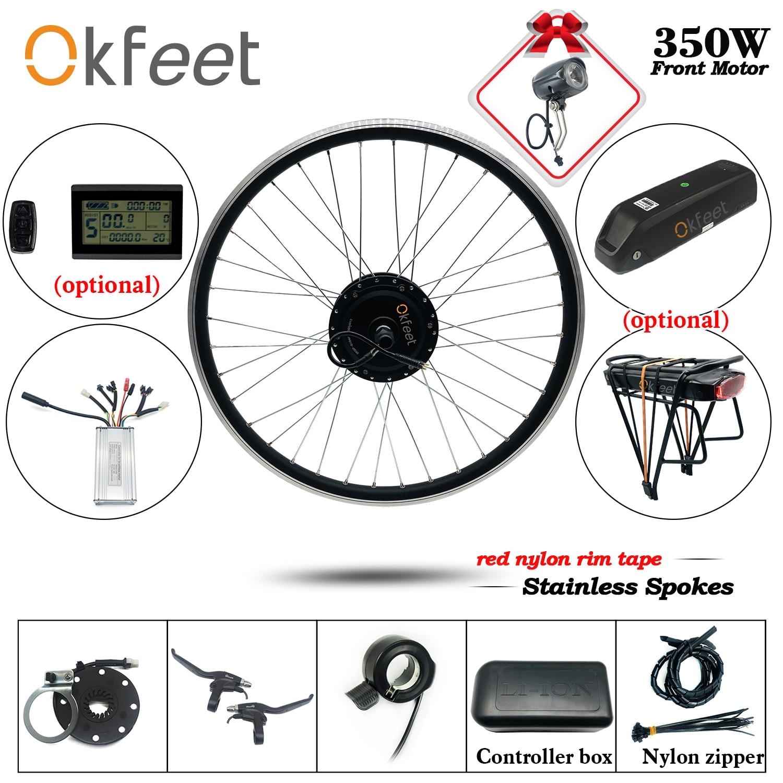 e-BIKE Conversion kit  36V 250W LCD Bluetooth 20-29 inch Front Rear motor wheel