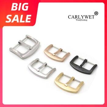 Ремешок для часов CARLYWET 18 20 22 24 мм, новый высококачественный ремешок из нержавеющей стали 316L причесанный матовый 3 мм с язычковой пряжкой для ...