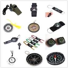 1PCS Key Chain Mini Compass Outdoor Camping Hiking Finding Way Hiker Navigator Utility