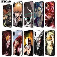 IYICAO Bleach Anime Soft Black Silicone Case for iPhone 11 Pro Xr Xs Max X or 10 8 7 6 6S Plus 5 5S SE iyicao sailor moon anime soft black silicone case for iphone 11 pro xr xs max x or 10 8 7 6 6s plus 5 5s se